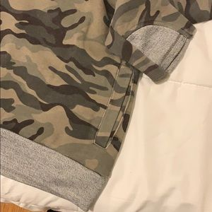 Ampersand Avenue Tops - Camo Hoodie with Thumb Holes